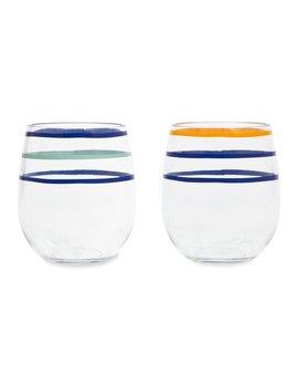 WINE GLASS Kate Spade New York Stemless Wine Glass, Citrus Twist Stripe