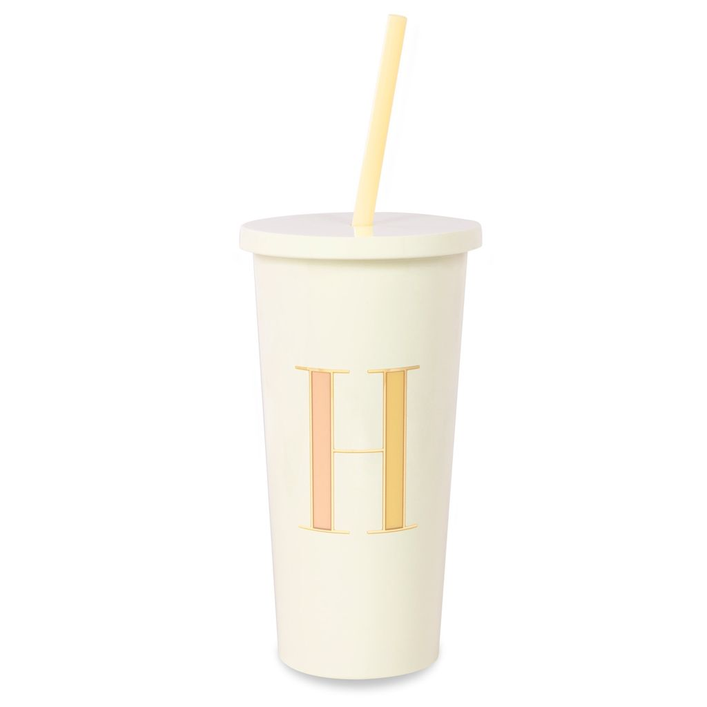 TUMBLER Kate Spade New York Initial Tumbler With Straw, H