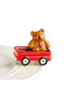 MINI ATTACHMENT Nora Fleming Minis - Bear in Wagon