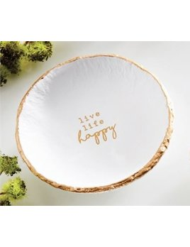 TRINKET TRAY Happy Paz•itive Gold Foil Trinket Dish
