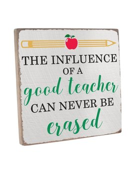 Sign Good Teacher Vintage Square