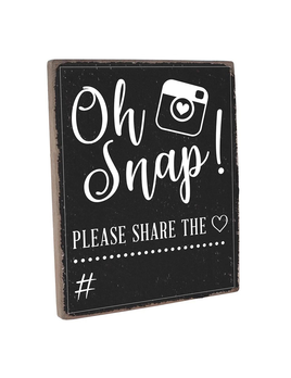 Oh Snap! Share the Love Chalkboard