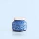 CANDLE CAPRI BLUE - BLUE JEAN WATERCOLOR PETITE JAR, 8 OZ CANDLE