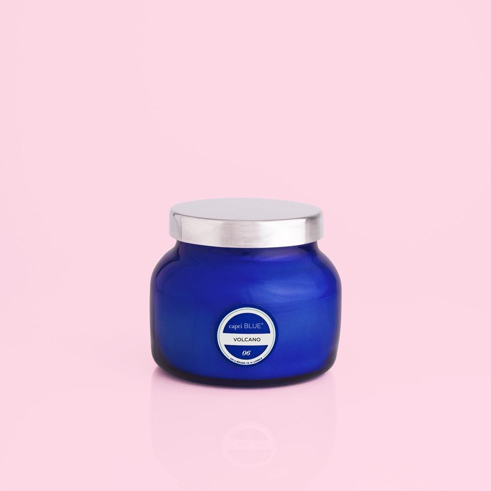 CAPRI BLUE - VOLCANO BLUE PETITE JAR, 8 0Z CANDLE