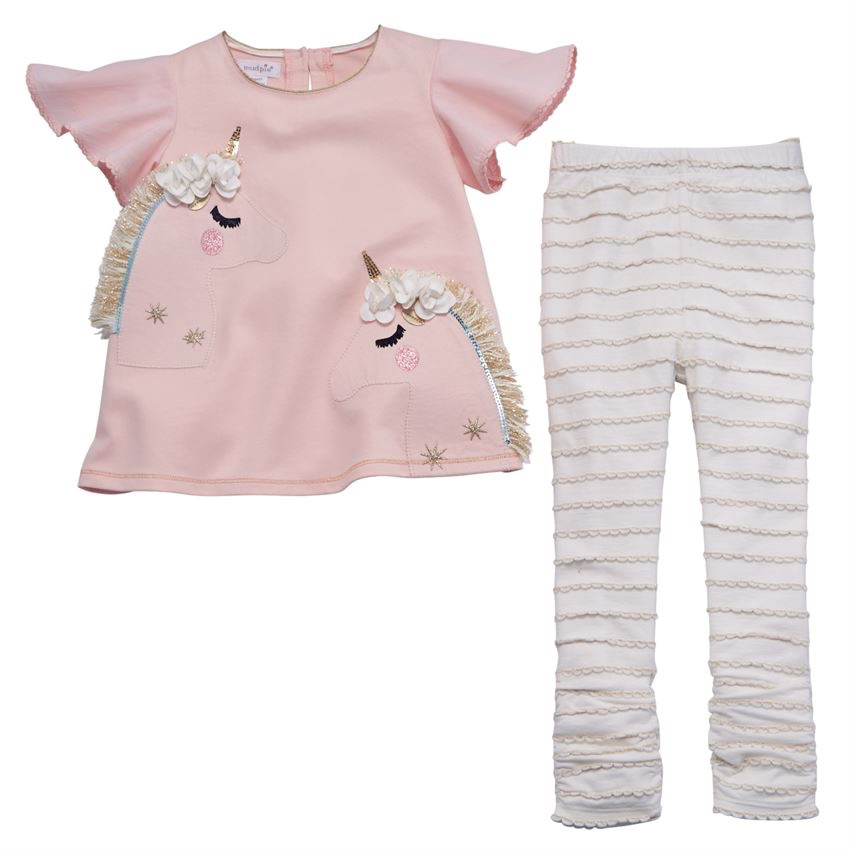 LEGGING UNICORN TUNIC AND LEGGING SET, 4T
