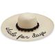 HAT SHADE FOR DAYS STRAW BLACK POM - POM SUN HAT