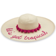 HAT LET'S GET TROPICAL STRAW PINK POM-POM SUN HAT