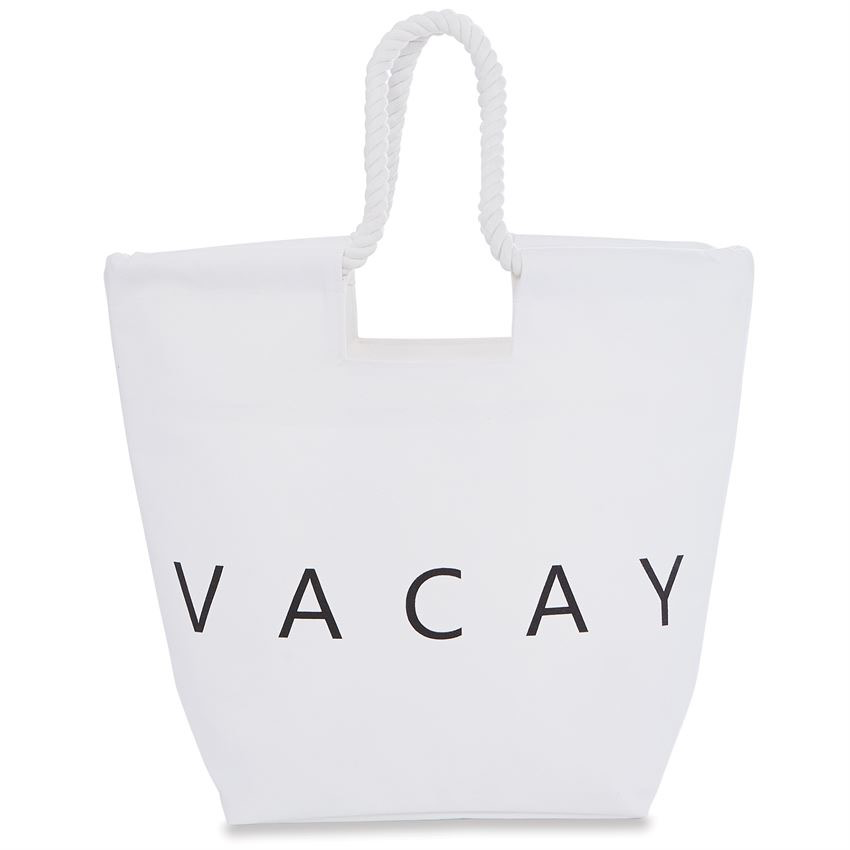 TOTE BAG VACAY CANVAS BEACH TOTE