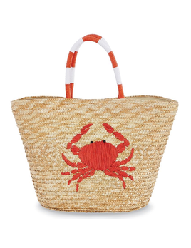 TOTE BAG SEA STRAW TOTE - RED CRAB