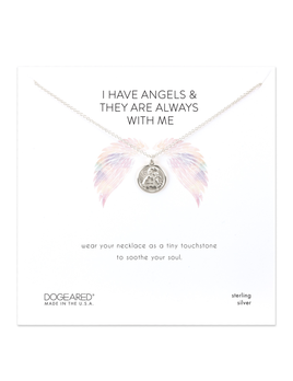 NECKLACE I Have Angels, Mini Angel Coin Necklace - Sterling Silver