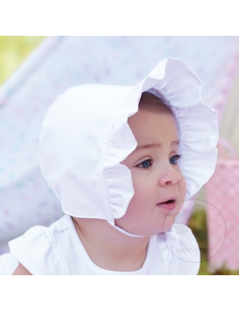 HAT GIRLS COTTON POPLIN BONNET