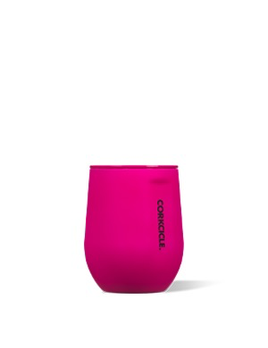 WINE GLASS Stemless by Corkcicle, Neon Lights Neon Pink, 12oz