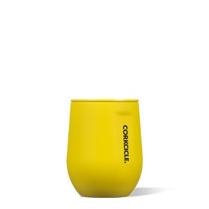 WINE GLASS Stemless by Corkcicle, Neon Lights Neon Yellow, 12oz