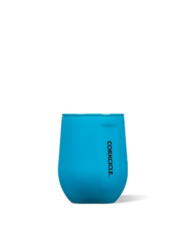 WINE GLASS Stemless by Corkcicle, Neon Lights Neon Blue, 12oz