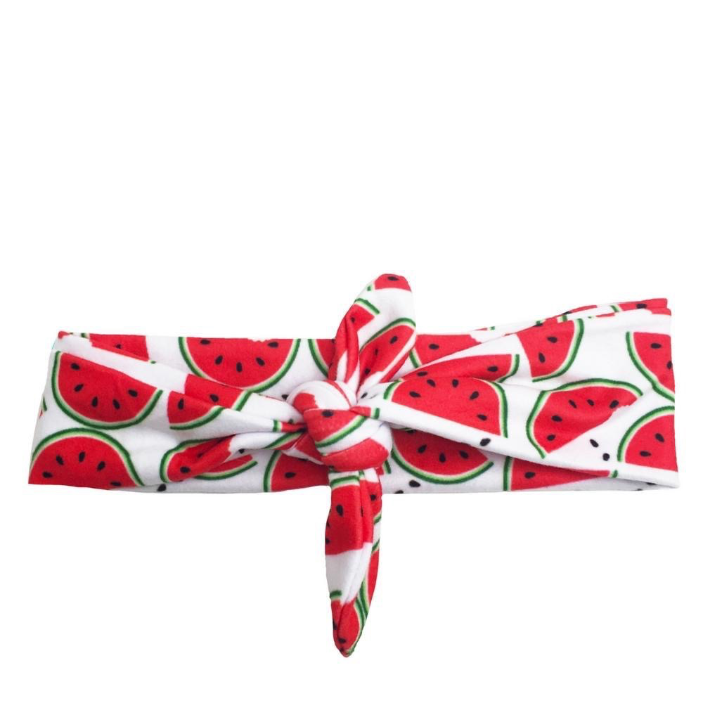HEADBAND WATERMELON CRAWL KNOTTED BY HEADBANDS OF HOPE
