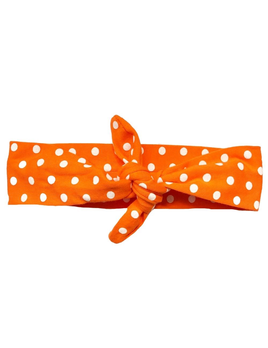 HEADBAND ORANGE POLKA KNOTTED BY HEADBANDS OF HOPE