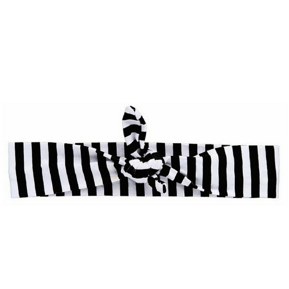 HEADBAND BLACK STRIPED KNOTTED BY HEADBANDS OF HOPE