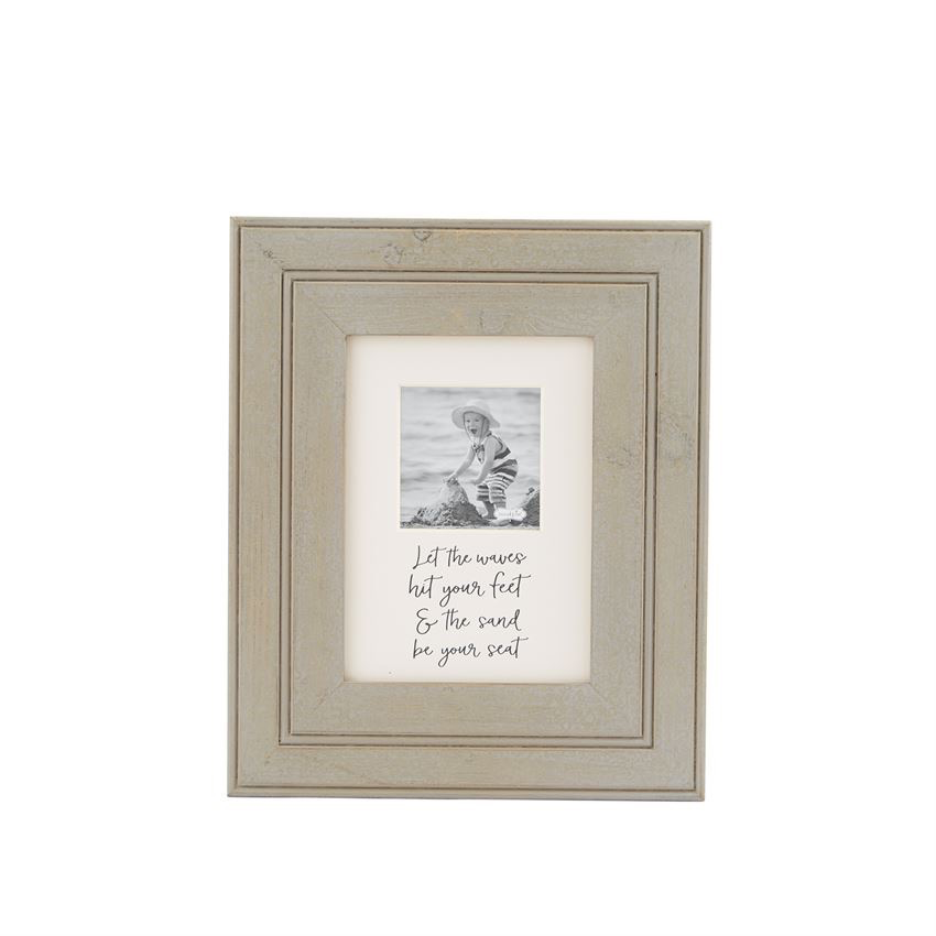 FRAME DISTRESSED GRAY BEACH FRAME