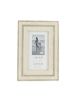 FRAME DISTRESSED WHITE BEACH FRAME