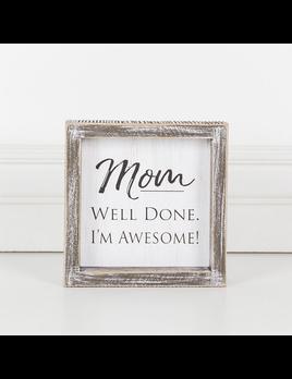 PLAQUE MOM AWESOME - FRAMED SIGN