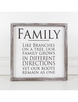 PLAQUE FAMILY - FRAMED SIGN