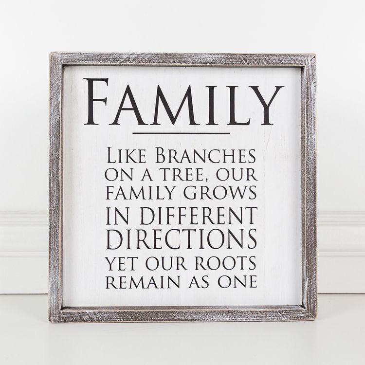 PLAQUE FAMILY - FRAMED SIGN