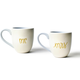 MUG ECRU MR. AND MRS. MUGS, SET OF 2
