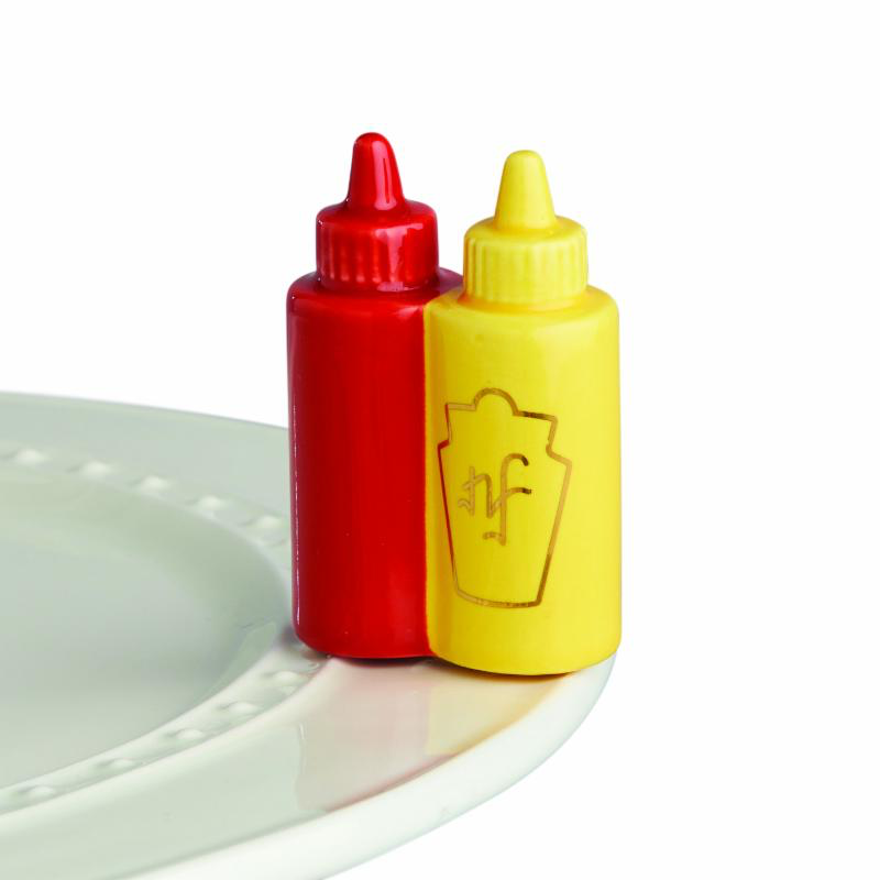 ATTACHMENT Nora Fleming Minis - Ketchup & Mustard