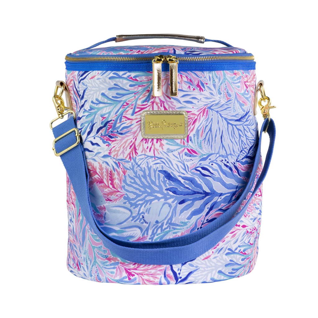 COOLER Lilly Pulitzer Beach Cooler, Kaleidoscope Coral
