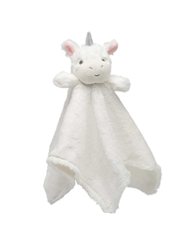 BLANKET WHITE UNICORN BABY SECURITY BLANKET