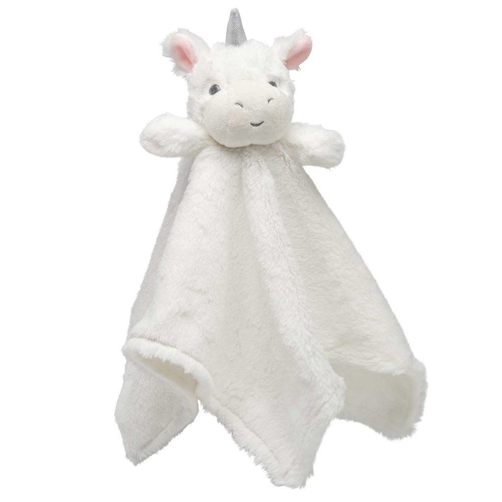 BLANKET WHITE UNICORN BABY SECURITY BLANKET
