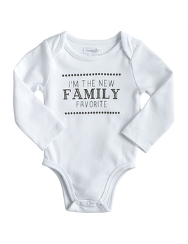 ONESIE FAMILY FAVORITE WHITE COTTON CRAWLER