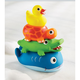 TOY STACKABLE ANIMAL RUBBER BATH TOY SET