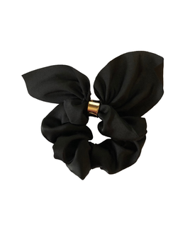 ACCSSORIES BLACK SOLID TIE SCRUNCHIE BY HEADBANDS OF HOPE