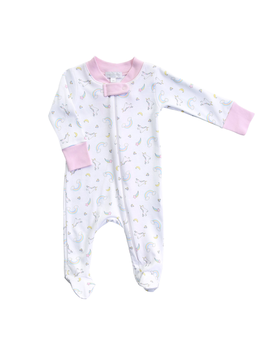 ONESIE Sweet Unicorn Printed Zipped Footie