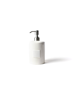 HOME ACCESSORY WHITE SMALL DOT MINI CYLINDER SOAP PUMP