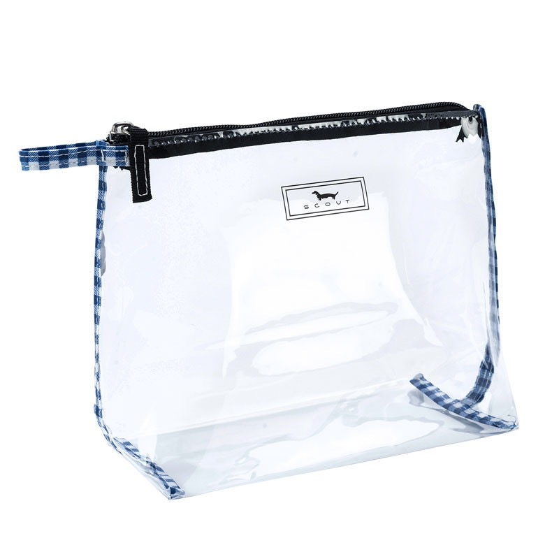 COSMETIC BAG IN THE CLEAR - BROOKLYN CHECKHAM