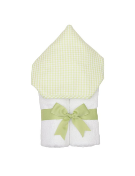 Towel Personalized Green Check Everykid Towel