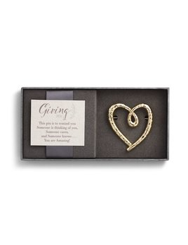 PIN Gold Heart Giving Pin