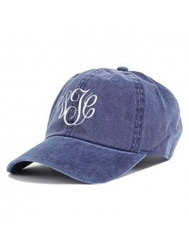 Monogrammed Baseball Cap - Denim Blue