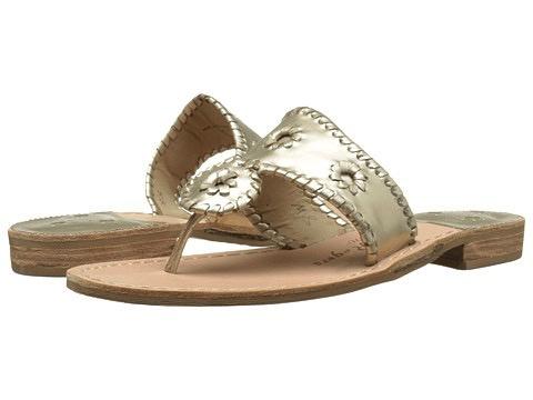 6a3ccf042b94fc Jack Rogers Hamptons Sandal - Platinum - Jeannine s Boutique