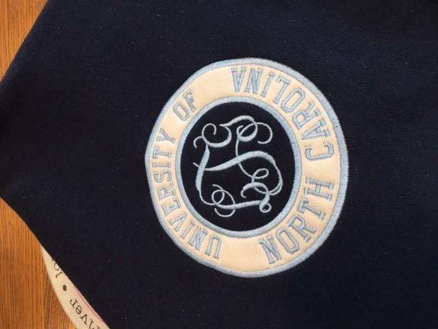 BLANKET College Sweatshirt Blanket - Monogram & Applique Included