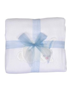 BURP CLOTH Blue Bunny Burp Cloth