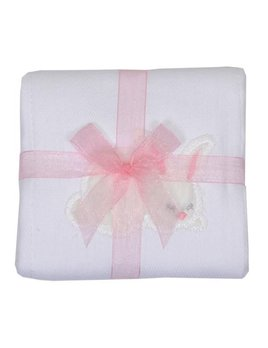 BURP CLOTH Pink Bunny Burp Cloth