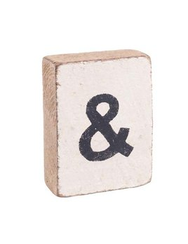 White Tumbling Block, Black Ampersand