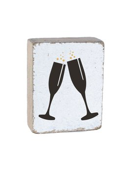 CHAMPAGNE GLASSES - BLOCK