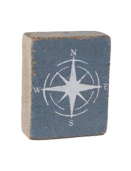 Stone Tumbling Block, White Compass