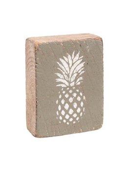 Sage Tumbling Block, White Pineapple