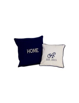 PILLOW Monogrammed Canvas Pillow