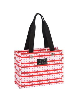 TOTE BAG Tiny Package By Scout, Santa's Workdot